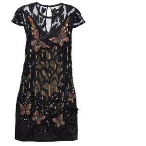 🍒NWT🍒 TED BAKER SEQUINE BUTTERFLY COCKTAIL DRESS